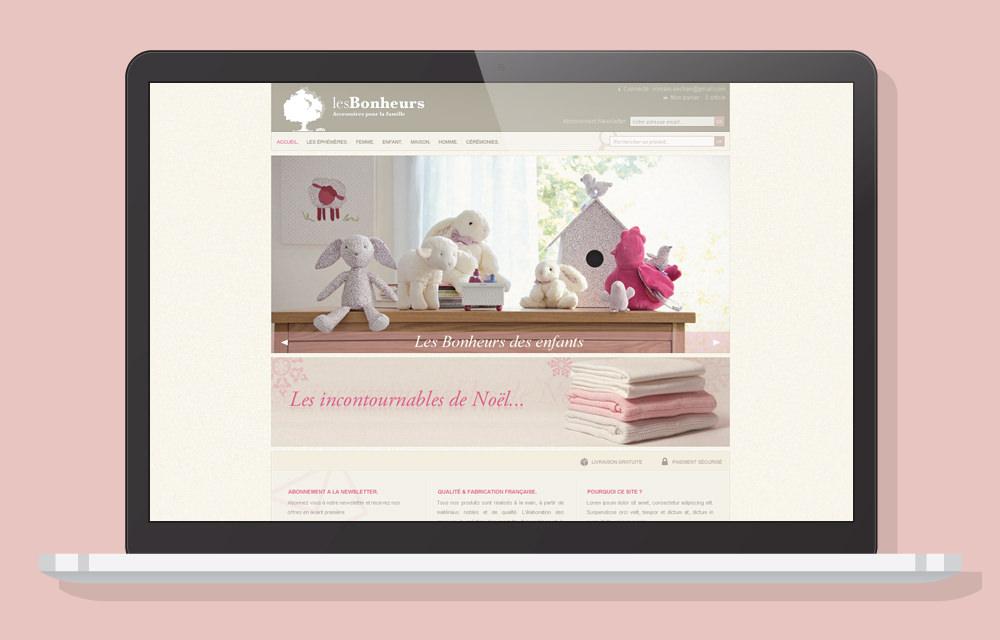 Identity - Les Bonheurs Website