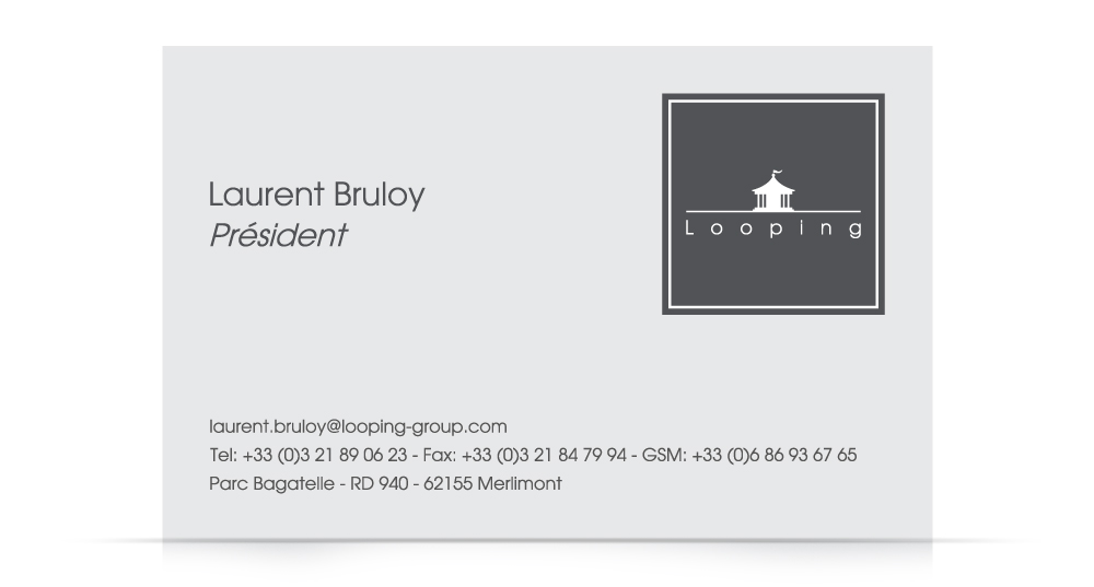 Identity - Looping business card