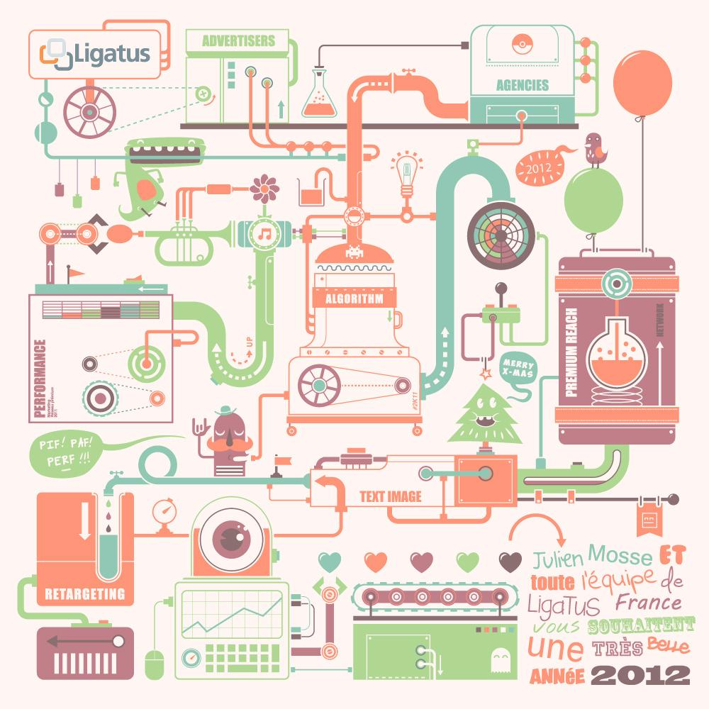 Graphic Design - Ligatus greeting card 2012 1