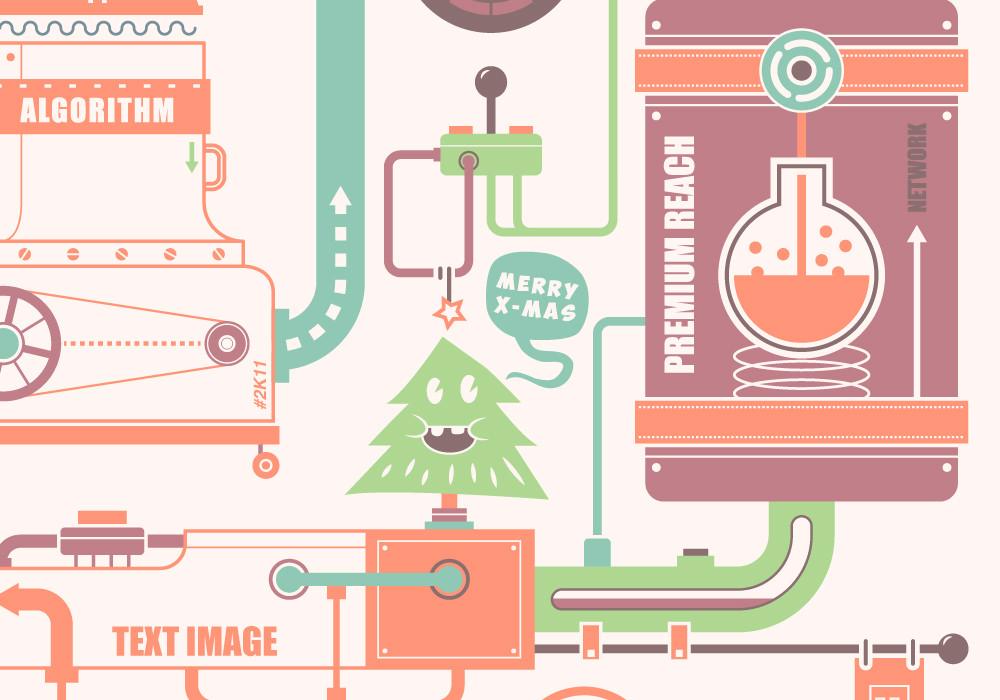 Graphic Design - Ligatus greeting card 2012 5