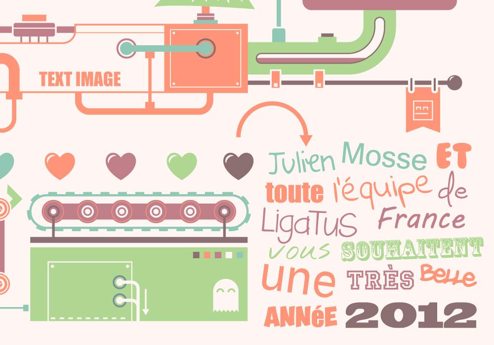 Graphic Design - Ligatus greeting card 2012 7