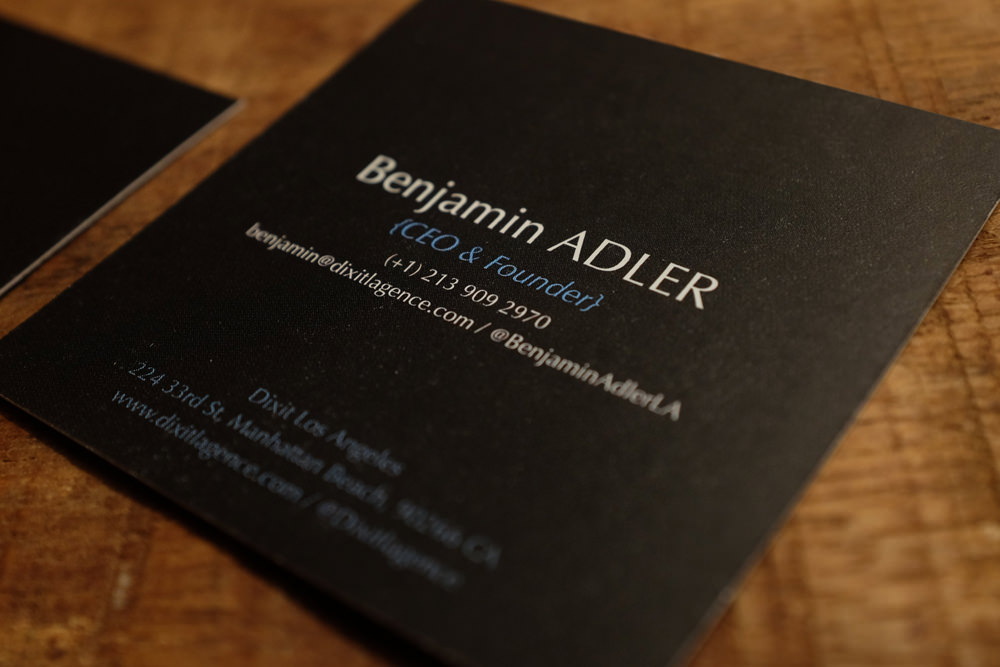 Identity - Dixit l'agence business card