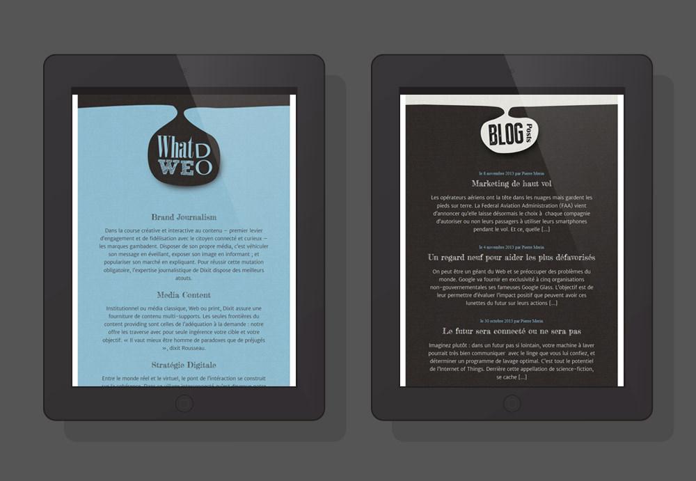 Website Responsive - Dixit l'agence iPad