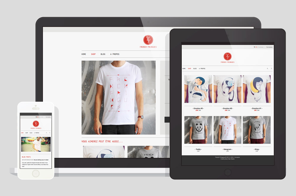 French Fringues - Responsive Website